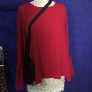Michael Kors ~ Beautiful Red Top with Bell Sleeves